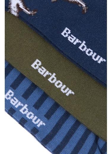 Barbour Barbour Mso0171Mi51 Mı51 Mixed Dog Multi Hediye Kutulu Çorap Seti Renkli